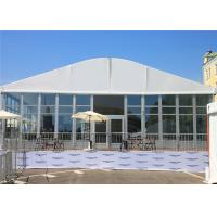 China Arch Roof Trade Modular Glass Wall Commercial Tent With 15 Years Long Life Span on sale