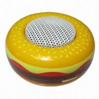 Buy cheap Mobile Phone Mini Speakers in Hamburger Style, with Built-in Rechargeable from wholesalers