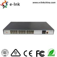 Wholesale L3 Managed PoE Switch POE Fiber Media Converter 24 Port 10 / 100 / 1000 Base -T from china suppliers