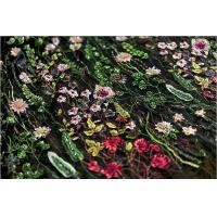 Wholesale Stretch Multi Colored Floral Heavy Beaded Lace Fabric For Wedding Dress Decoration from china suppliers
