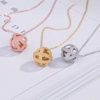 Wholesale New arrival silver gold rose gold plated 925 sterling silver ball of yarn  pendant necklace from china suppliers