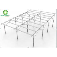 Wholesale Foldable Rolling Aluminum Ground Mount Solar Racking System With Adjustable Structure from china suppliers