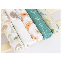 Buy cheap Durable Printed Bamboo Muslin Fabric 100 Percent Medical Grade Soft Feeling from wholesalers