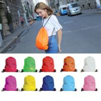 Wholesale Water Repellent Polyester Drawstring Backpack Customizable For Men / Women / Kids from china suppliers