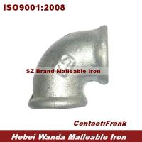 Wholesale malleable iron pipe fitting elbow 90 beaded BS thread from china suppliers