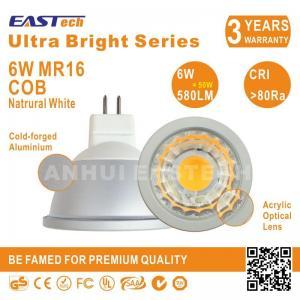 China Ultra Bright G5.3 MR16 LED Ceiling Spot Light 6W COB 580LM CRI80 Natural White