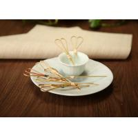 China Disposable Bamboo Knot Cocktail Picks , Round Long Marshmallow BBQ Skewers on sale