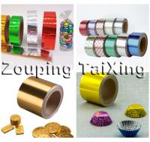 8011 46-50mic gold aluminium foil chocolate coins