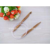 Carbonized CIRCULAR Bamboo Knitting Needles with hook, Afghan Tunisian Double Ended Crochet Hooks, china manufacturer