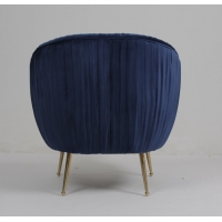 Wholesale Modern Blue 88CM Velvet Fabric Armchair With Stainless Steel Legs from china suppliers