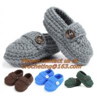 Wholesale Baby Booties, Socks Knitted, Newborn Loafers Shoes Plain Infant Slippers Footwear, knitwea from china suppliers