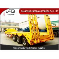 Wholesale Tri - axle heavy duty utility low bed trailer 60 tons with ramps and fuwa axles from china suppliers