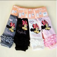 Wholesale Anti - Pilling Childrens Footless Tights , Jacquard Mickey Mouse Tights from china suppliers