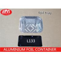 China Recyclable Aluminium Food Packaging Containers L133 14cm X 12cm X 5cm Size on sale
