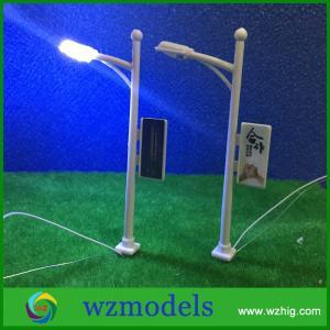 scale LED Street Garden Park Single Head Lights Lamppost Model Layout N Scale 1/200