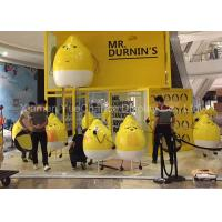 China Outdoor Plaza Advertising Cartoon Character Statues Fiberglass Lemon Shape Statue on sale