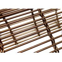 Wholesale Copper Color Architectural Wire Mesh Panels Woven With Cables & Rods For Facades from china suppliers