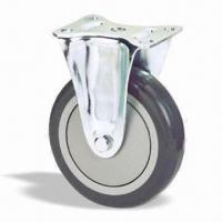 Quality Industrial Casters Wheel and Roller with Pressed Steel and Zinc-chromatised for sale