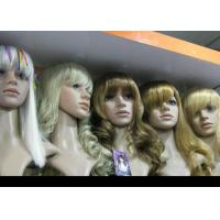 China Custom Blonde Wavy Human Hair Full Lace Synthetic Wigs Glueless Heat Resistant on sale