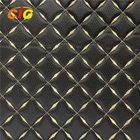 Buy cheap Various Designs Embroidery PU PVC Leather With High Density Foam For Car from wholesalers