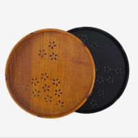 Wholesale Japanese style circular handmade vintage wooden tray amazon for hotel from china suppliers