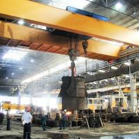 Buy cheap Metallurgy Melt Shop Double Beam Overhead Crane 70 Ton Electric Winch Lifting from wholesalers