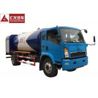 Wholesale 4x2  LPG Tank Trailer Mobile Distribution  , Dispenser LPG Gas Tanker Truck 120 Horse Power from china suppliers
