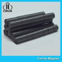 Wholesale Hard Cylinder Ferrite Magnet For Rotors / Fridge SGS RoHS Certification from china suppliers