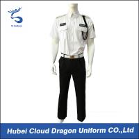Men Security Guard Uniform Full Set For Hotel / Airport / Station Protection , 2 Pockets