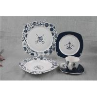 Wholesale 20pcs Special Bone China Dinnerware Sets Square Shape With Captain Design from china suppliers
