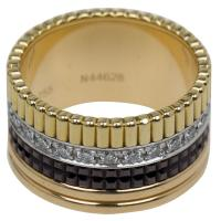 Buy cheap 14.6 Gr Boucheron Jewelry Black Ceramic Simple Gold Ring With Diamond from wholesalers