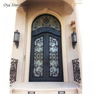 China lowes wrought iron security doors exterior door metal double doors on sale
