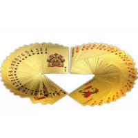 Wholesale Multipurpose Colorful Gold Plated Playing Cards Gambling 57*87MM from china suppliers