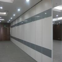 China MDF Finish Sliding Wall Partitions For Auditorium Meeting Room Customized Size on sale