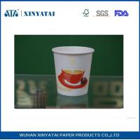 China Disposable PE Coated Double Walled Paper Coffee Cups , Insulated Paper Espresso Cups on sale