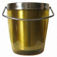 Wholesale Double Wall Ice Bucket with Handle from china suppliers