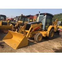 China Yellow Used Cat 420f Backhoe Loader / Skid Steer Loader High Working Ability on sale