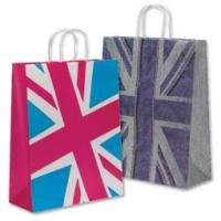 Wholesale Natural157 Gram Art Paper Gift Bags / Carrier Bags For Cloth With Pp Rope Uv Coatiing from china suppliers