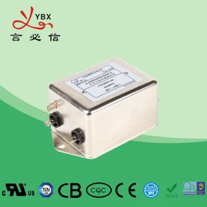 Wholesale Yanbixin 6A 120 250VAC Single Phase RFI Filter , EMC Noise Filter For Military from china suppliers