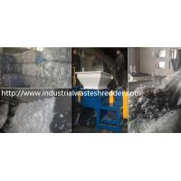 China Scrap PE / PP Film Double Shaft Shredder High Torque For Agricultural on sale