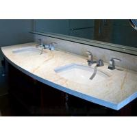 Wholesale Golden Spider Marble Slab Countertop Vanity Top Goden Vein With Cabinet from china suppliers