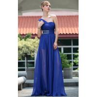 Wholesale Floor Length One Shoulder Blue Mature Evening Dress / Modern Bridesmaids Dresses -30666 from china suppliers