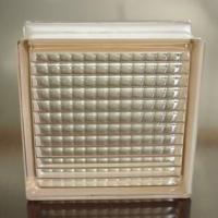 China pink body-color glass block/pink paralle glass block on sale