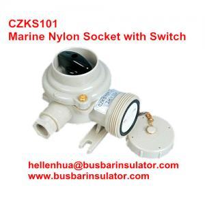 10A marine nylon watertight receptacles with switchCZKS201 1144/2/FS IP56