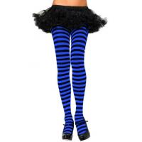 Wholesale Spring Striped Pantyhose , Ladies Black And Blue Striped Tights from china suppliers