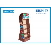 Buy cheap 4 Tiers Skin Care Cardboard Product Display Stands Offset Printing from Wholesalers