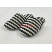 Wholesale Jersey Fabric Hotel Disposable Slippers Closed Toe Blue , white terry cloth slippers from china suppliers