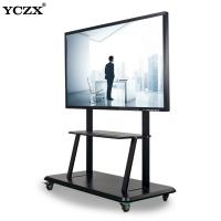 China Office Interactive Flat Panel 4mm Tempered Glass 55 Inch Video Conference System I7 Led Infrared Interactive Whiteboard on sale