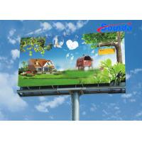China High Tensile Strength Outdoor Advertising Materials with Polyester Base Fabric on sale