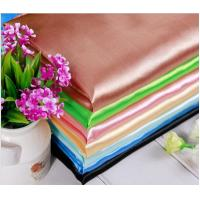 Wholesale Lean Textile wedding decoration satin fabric for bridal dress, shining satin fabric from china suppliers